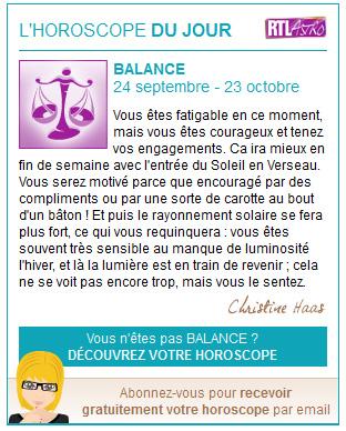 Widget Horoscope du jour - astro.rtl.fr